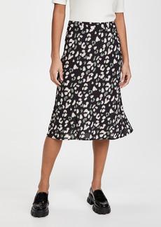 Velvet by Graham & Spencer Velvet Snow Leopard Skirt