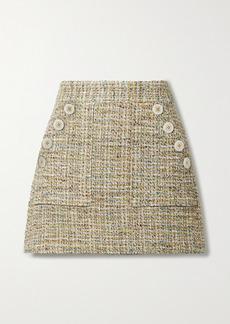 Veronica Beard Bond Cotton-blend Tweed Mini Skirt