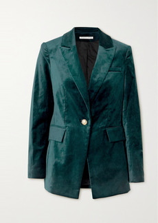 Veronica Beard Long And Lean Dickey Cotton-blend Velvet Blazer