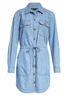 Veronica Beard Alyse Long Sleeve Denim Shirtdress