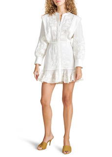 Veronica Beard Analeah Embroidered Long Sleeve Dress