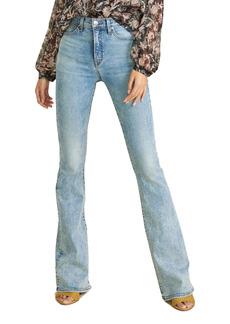 Veronica Beard Beverly High Waist Flare Leg Jeans (Blue Mist)
