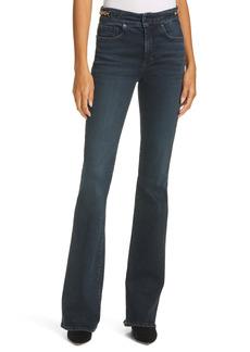 Veronica Beard Beverly High Waist Skinny Flare Jeans (Dark Ink)