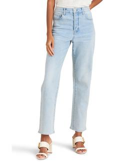 Veronica Beard Blake High Waist Straight Leg Jeans (Glacier Blue)