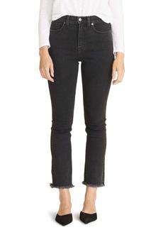 Veronica Beard Carly Raw Hem Kick Flare Jeans (Salt & Pepper)