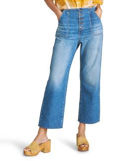 Veronica Beard Crosbie Crop Wide Leg Jeans (Juno)