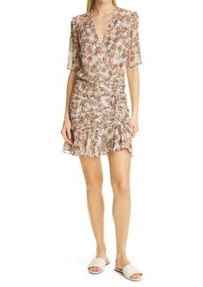Veronica Beard Dakota Ruched Silk Blend Dress