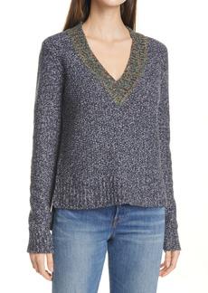 Veronica Beard Dharma V-Neck Sweater