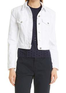 Veronica Beard Dottie Strong Shoulder Denim Jacket