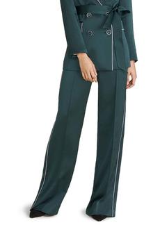 Veronica Beard Edia Satin Wide Leg Pants