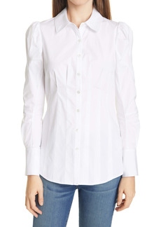 Veronica Beard Gilan Button-Up Blouse