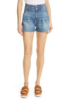 Veronica Beard Jaylen High Waist Denim Shorts (Waterfall)