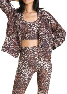 Veronica Beard Leopard Print Hooded Jacket