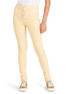 Veronica Beard Maera High Waist Button Fly Skinny Jeans (Mustard)