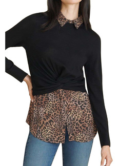 Veronica Beard Phebe Mixed Media Sweater