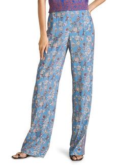 Veronica Beard Pomeline Floral Wide Leg Pants