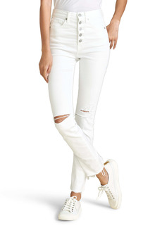 Veronica Beard Ryleigh High Waist Slim Straight Leg Jeans