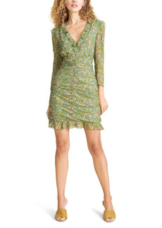 Veronica Beard Shala Paisley Ruched Silk Dress