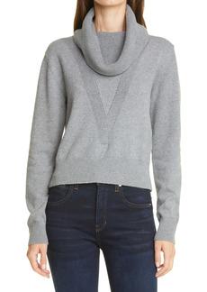 Veronica Beard Zarita Cotton & Cashmere Cowl Neck Sweater