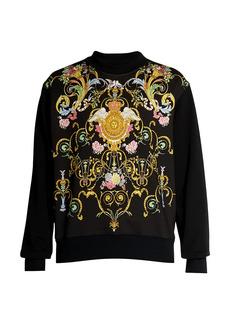 Versace Color Baroque Crewneck Sweater