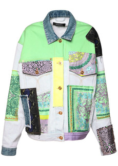 Versace Cotton Denim Jacket W/embroidery
