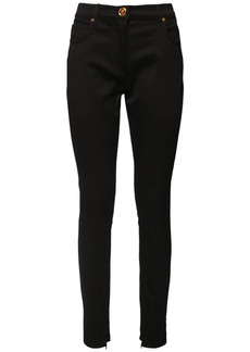 Versace Denim Jersey Skinny Jeans
