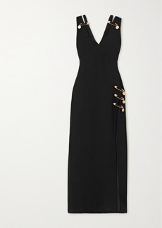 Versace Embellished Cutout Silk-crepe Gown