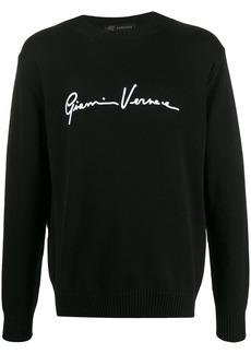 Versace embroidered logo jumper