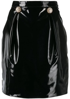Versace embossed-buttons mini skirt