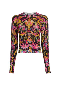 Versace Lady Cropped Knit Sweater
