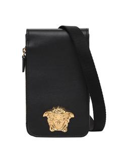 Versace Leather Phone Case W/medusa Hardware