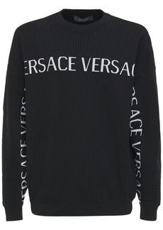 Versace Logo Cotton Knit Sweater