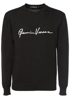 Versace Logo Knit Crewneck Sweater