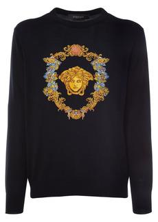 Versace Medusa Embroidery Crewneck Sweater