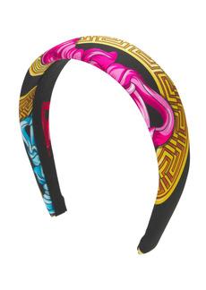 Versace Medusa Print Twill Headband