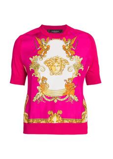 Versace Medusa Reinassance Print Knit Sweater