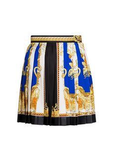 Versace Medusa Renaissance Print Pleated Skirt