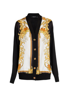 Versace Medusa Renaissance Silk & Cotton Cardigan