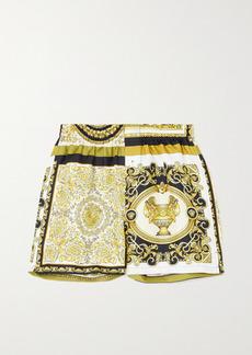 Versace Printed Silk-twill Shorts