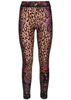 Versace Printed Stretch Jersey Leggings