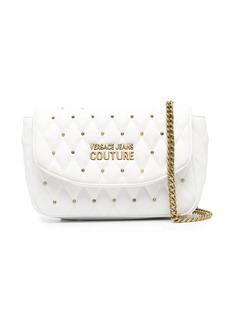 Versace quilted studded shoulder bag
