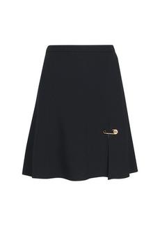 Versace Safety pin satin mini skirt