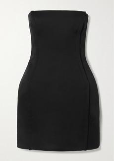 Versace Strapless Crepe Mini Dress