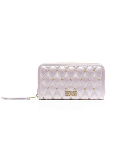 Versace studded diamond-quilted wallet