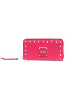 Versace studded logo-plaque wallet