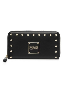 Versace studded zip-up leather purse