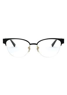 Versace 53mm Cat Eye Semi Rimless Optical Glasses