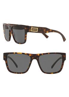 Versace 56mm Flat Top Sunglasses