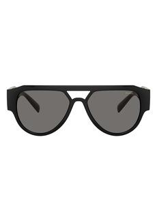 Versace 57mm Polarized Pilot Sunglasses