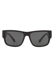 Versace 58mm Rectangular Sunglasses